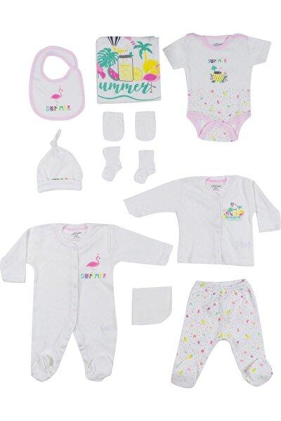 Kız Bebek Ekru 10'lu Hastane Çıkış Seti 0-3 Ay Azz-010200