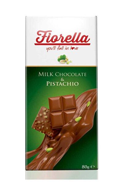 Fıstıklı Tablet Çikolata 80 gr 10'lu 1 Kutu