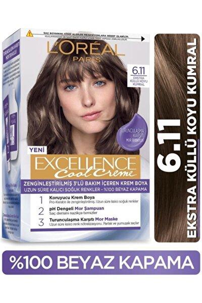 L'oréal Paris Excellence Cool Creme Saç Boyası – 6.11 Ekstra Küllü Koyu Kumral