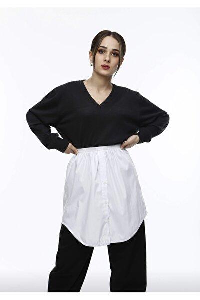 Kadın Beyaz Gömlek İçlik Etek