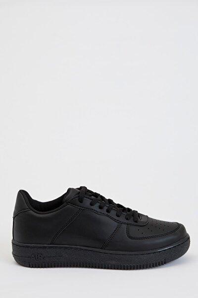 Kadın White And Black Bağcıklı Sneaker Basic Ayakkabı S0808AZ20AU