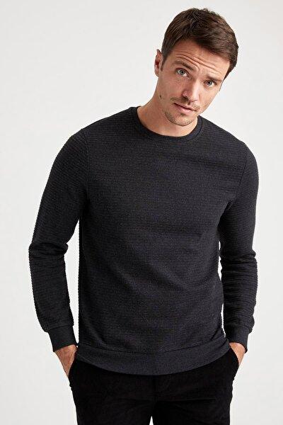 Erkek Antrasit Slim Fit Sweatshirt S9128AZ20WNAR