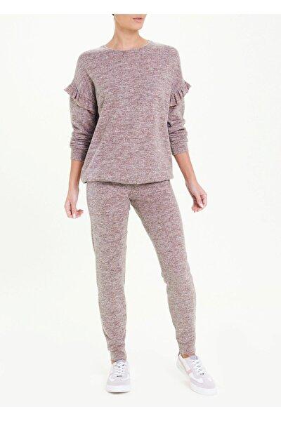 Kadın Pembe Soft Fırfır Detaylı Bluz