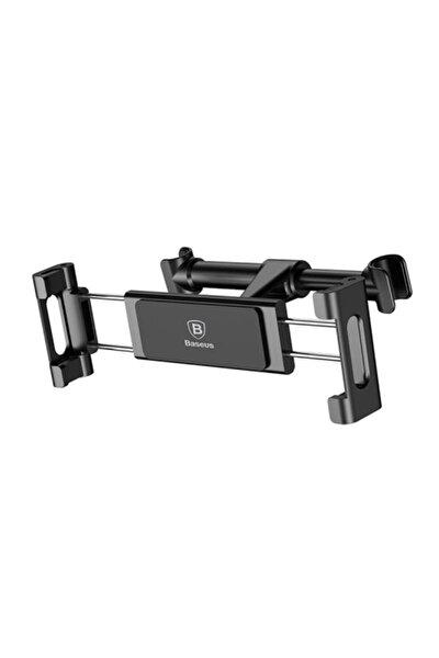 """Backseat Serisi 4.7"""" - 12.9"""" Modellere Uyumlu Tablet Tutucu Koltuk Askısı Siyah"""