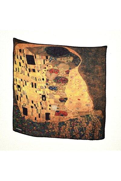 Gustav Klimt Desenli Bandana Fular
