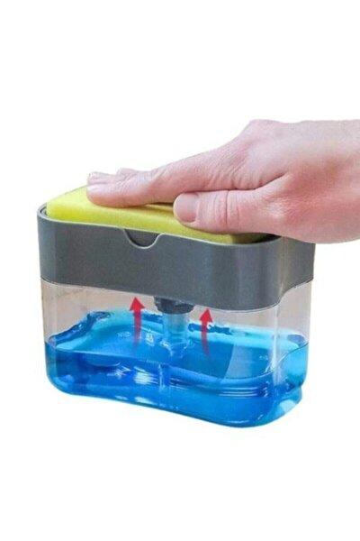 Pompalı Sünger Hazneli Sıvı Sabunluk 380 ml Baysa