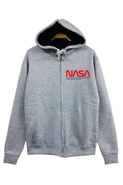 Nasa, Amsterdam, Uzay Kapşonlu Fermuarlı Sweatshirt