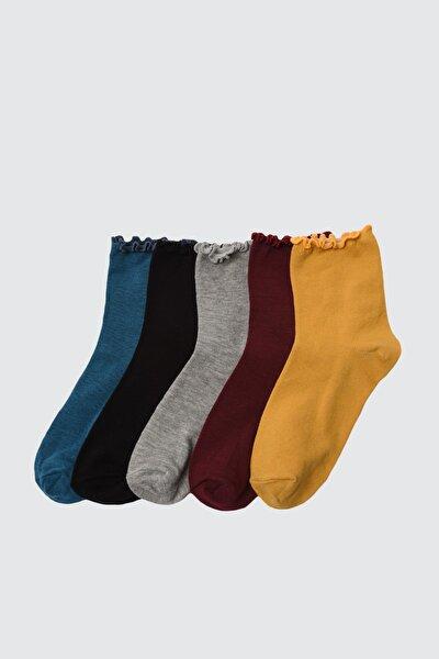 5'li Siyah Örme Çorap TWOAW21CO0096