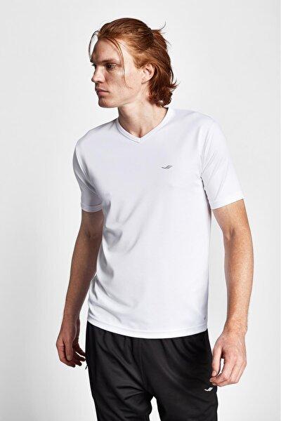 Erkek Beyaz Kısa Kollu T-shirt 19s-1231-19n