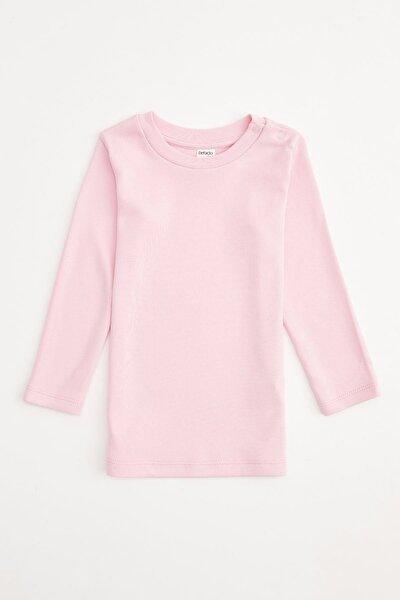 Kız Bebek Pembe Basic Uzun Kol Tişört