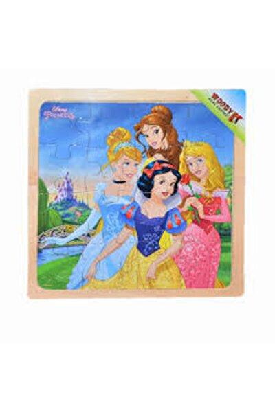 Disney Prensesleriler 16 Parça Puzzle Ahşap Oyuncak Şato /