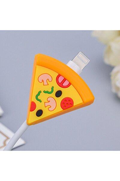 Sevimli Pizza Dilimi Kablo Koruyucu