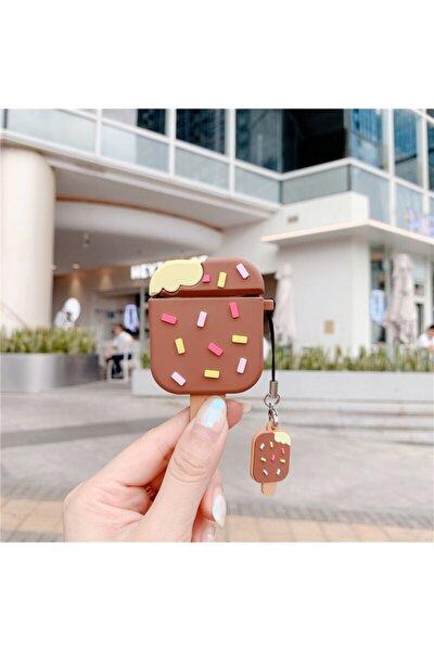 Sevimli Çikolatalı Çubuklu Dondurma Airpods 1. ve 2. Nesil Silikon Kılıf