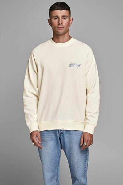 Erkek Krem Crew Neck Sweatshirt  12180365