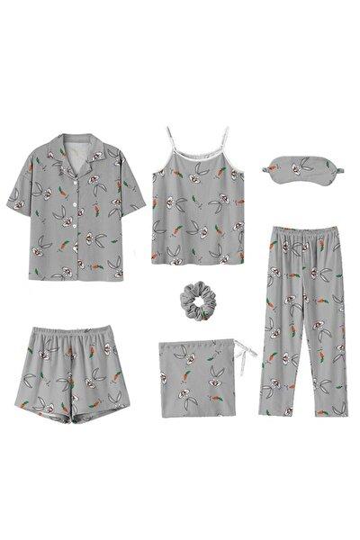 Samantha Buggs Bunny 7 li Ultrasoft Pijama Set