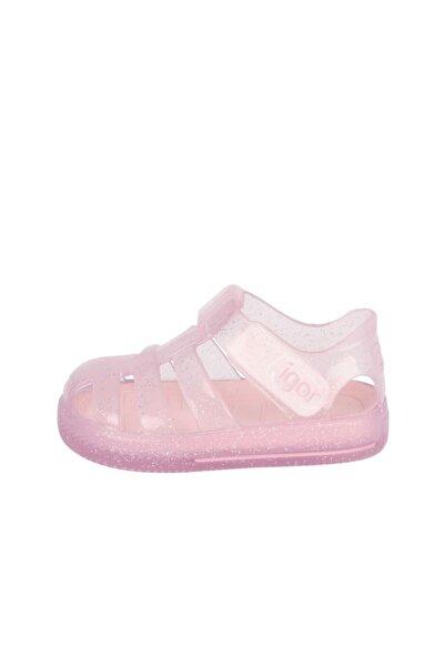 Çocuk Pembe Star Sandalet