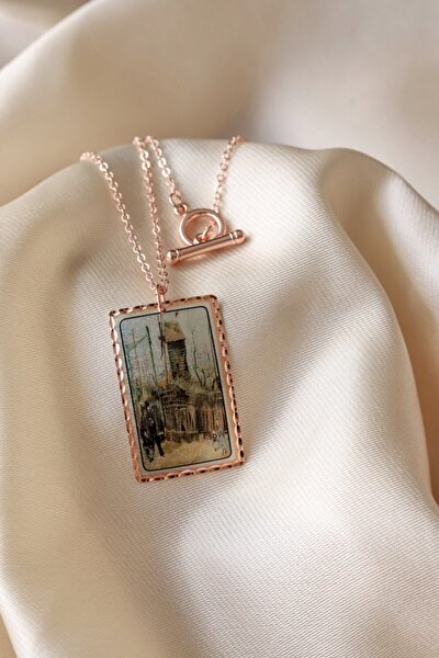 Kadın - Van Gogh Montmartre Bakır Tasarım Kolye