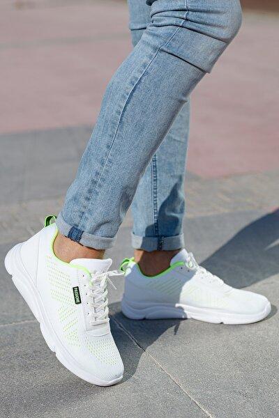 Unisex Beyaz Yeşil Sneakers Ayakkabı Svt17