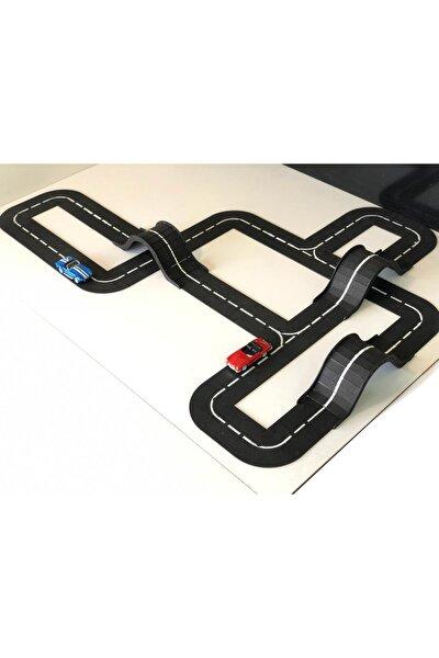 Çocuk Oyuncak Araba Yolu Puzzle Ahşap Otopark