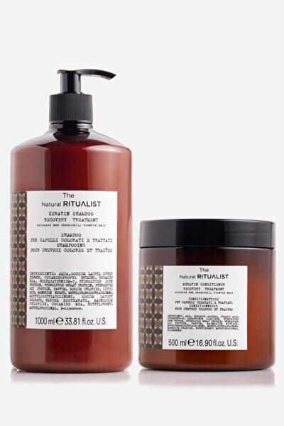Keratin Yıpranmış Saçlar Için Acil Kurtarma Şampuanı 1000 Ml + Saç Kremi 500 Ml