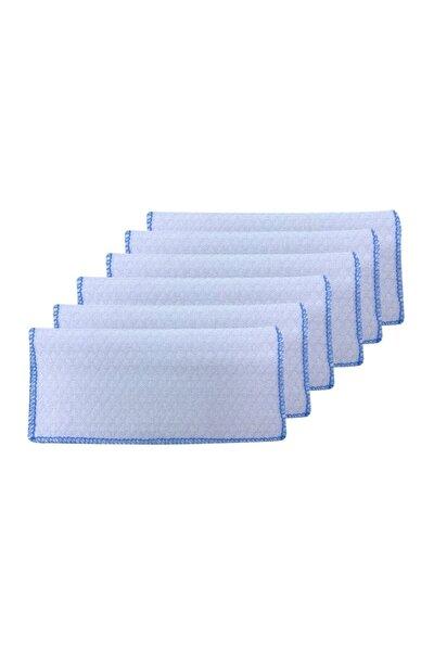 Ağız Mendili 6lı - Beyaz -mavi