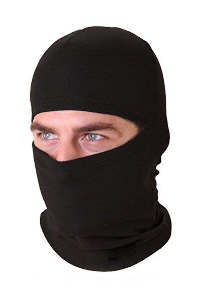 Polar Kar Maskesi Siyah Bere Termal Maskesi Şapka Bayan Erkek Kışlık Boyunluk Mnks30159s