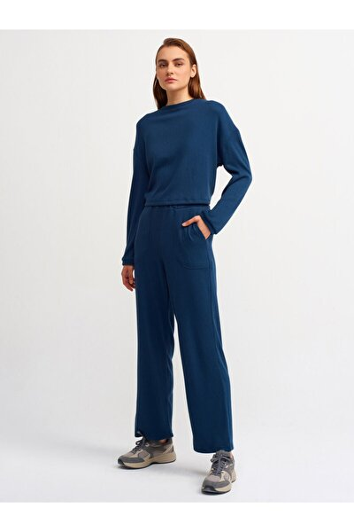 Kadın Petrol Mavi Jogger Pantolon 7914