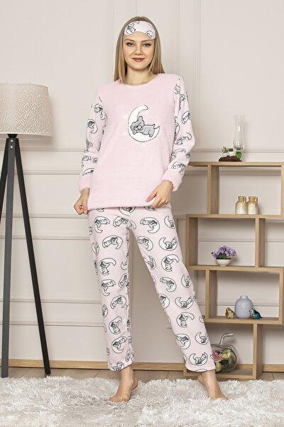 Kadın Pembe Welsoft Pijama Takım Gls 1035