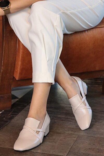 Doris Ten Çapraz Bantlı Topuklu Ayakkabı