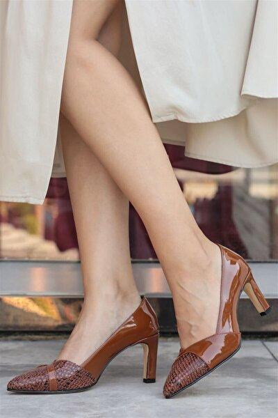 Kate Taba Yılan Topuklu Ayakkabı