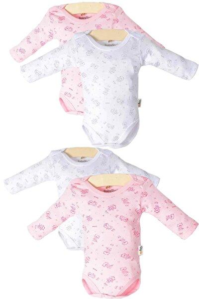Kız Bebek Çıtçıtlı Uzun Kollu 4'lü Zıbın Takımı Ptk20s-407