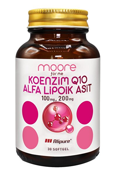 Koenzim Q10 100 mg + Alfalipoik Asit 200 mg 30 Soft Gel
