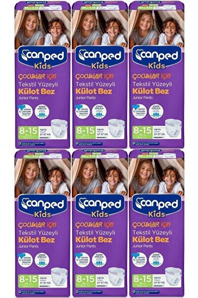 Kids Çoçuklar Için Külot Bez Tekstil Yüzeyli Yaş:8-15 (27-57kg) 48 Adet (6pk*8)