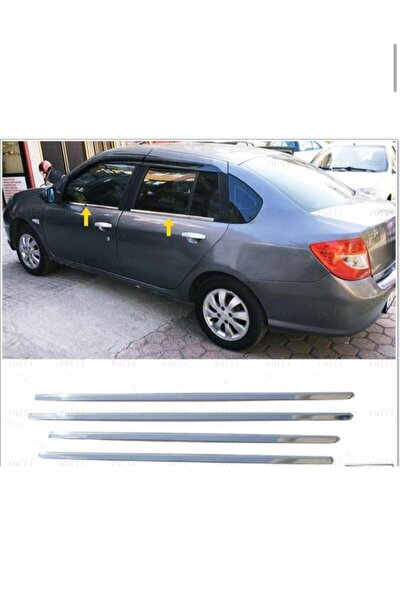 Renault Clio 3 Symbol Krom Cam Çıtası 4 Prç. 2009-2013 P. Çelik