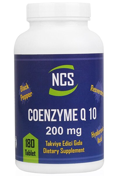 Coenzyme Q 10 200 mg Resveratrol Hyaluronic Acid 180 Tablet