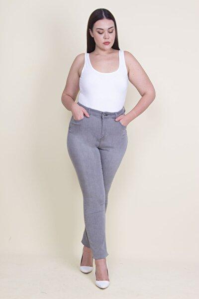 Kadın Gri 5 Cepli Kot Pantolon 65N21099