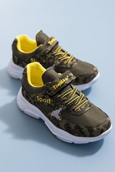 Unisex Çocuk Haki Spor Ayakkabı