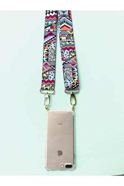 Iphone 11 Pro Kuruyuculu Boyundan Askılı Etnik Desen Telefon Kılıfı