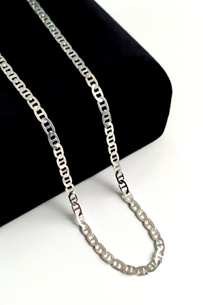 925 Ayar Gümüş Barlı Zincir 3 Mm 60 Cm