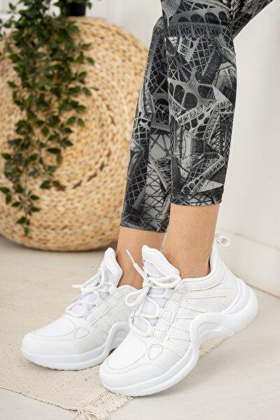Beyaz Kadın Sneaker Md1054-101-0001