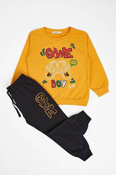 Erkek Çocuk  Sarı Eşofman Takım