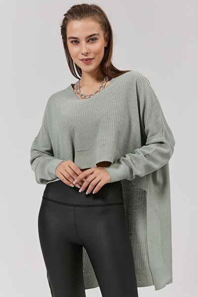 Kadın Önü Kısa Arkası Uzun Triko Kazak Y20w192-2220