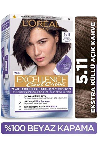 L'oréal Paris Excellence Cool Creme Saç Boyası – 5.11 Ekstra Küllü Açık Kahve