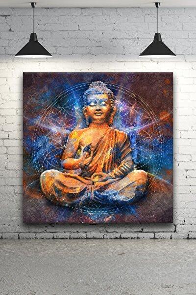 - Lotus Pose'da Oturmuş Buda Kanvas Tablo