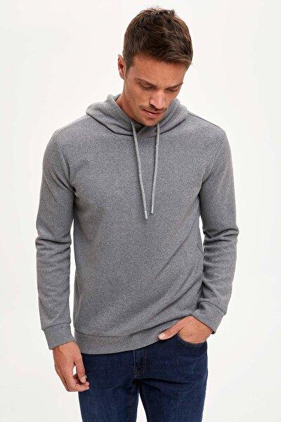 Erkek Grey Melange Regular Fit Sweatshirt S9052AZ20WNGR