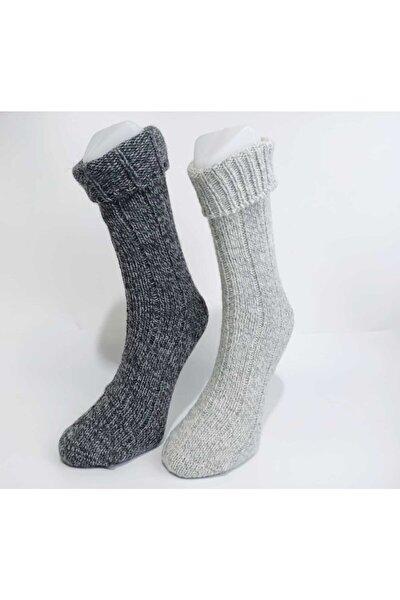 Erkek 2'li Kışlık Yün Çorap