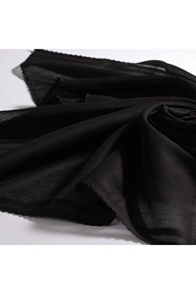 Iç Başörtü - Oyalı Siyah Pamuk Tülbent % 100 Pamuk - Siyah