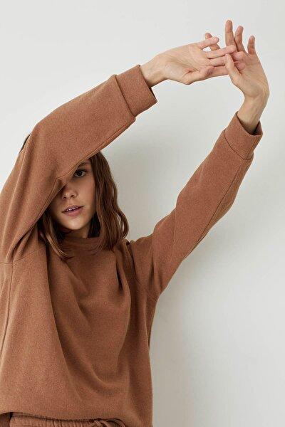 Kadın D.Camel Basic Örme Uzun Kollu Tişört T2024AZ20AUBN