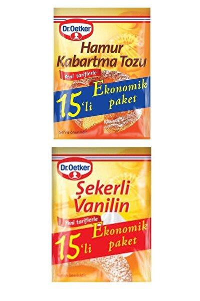Dr.oetker 15'li Set 15 Şekerli Vanilin + 15 Hamur Kabartma Tozu
