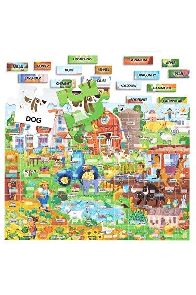 100 Ingilizce Kelime Çiftlik Puzzle